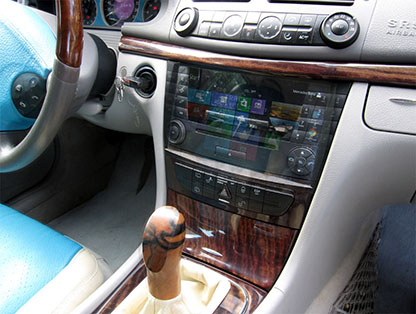 Audio20 and Car-PC for Mercedes E Class, W 211, Photomontage