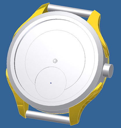 Watch from ivory, sketch