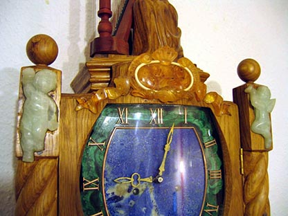 Longcase clock (grandfather clock), Amber mosaic