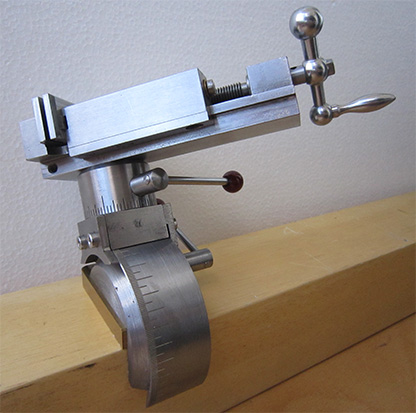 Precision vise on the watchmaker's bench